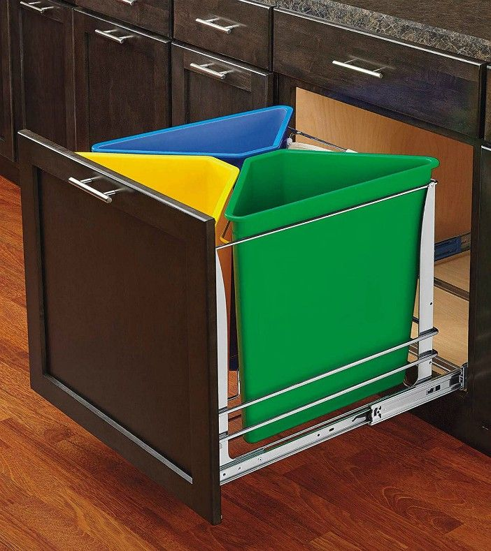 bin recycling - 20 clever organizing ideas for taming your kitchen clutter