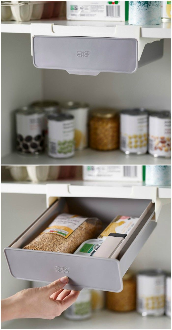 cabinet organizer - 20 clever organizing ideas for taming your kitchen clutter