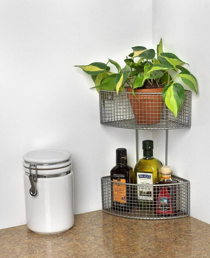 corner basket - 20 clever organizing ideas for taming your kitchen clutter