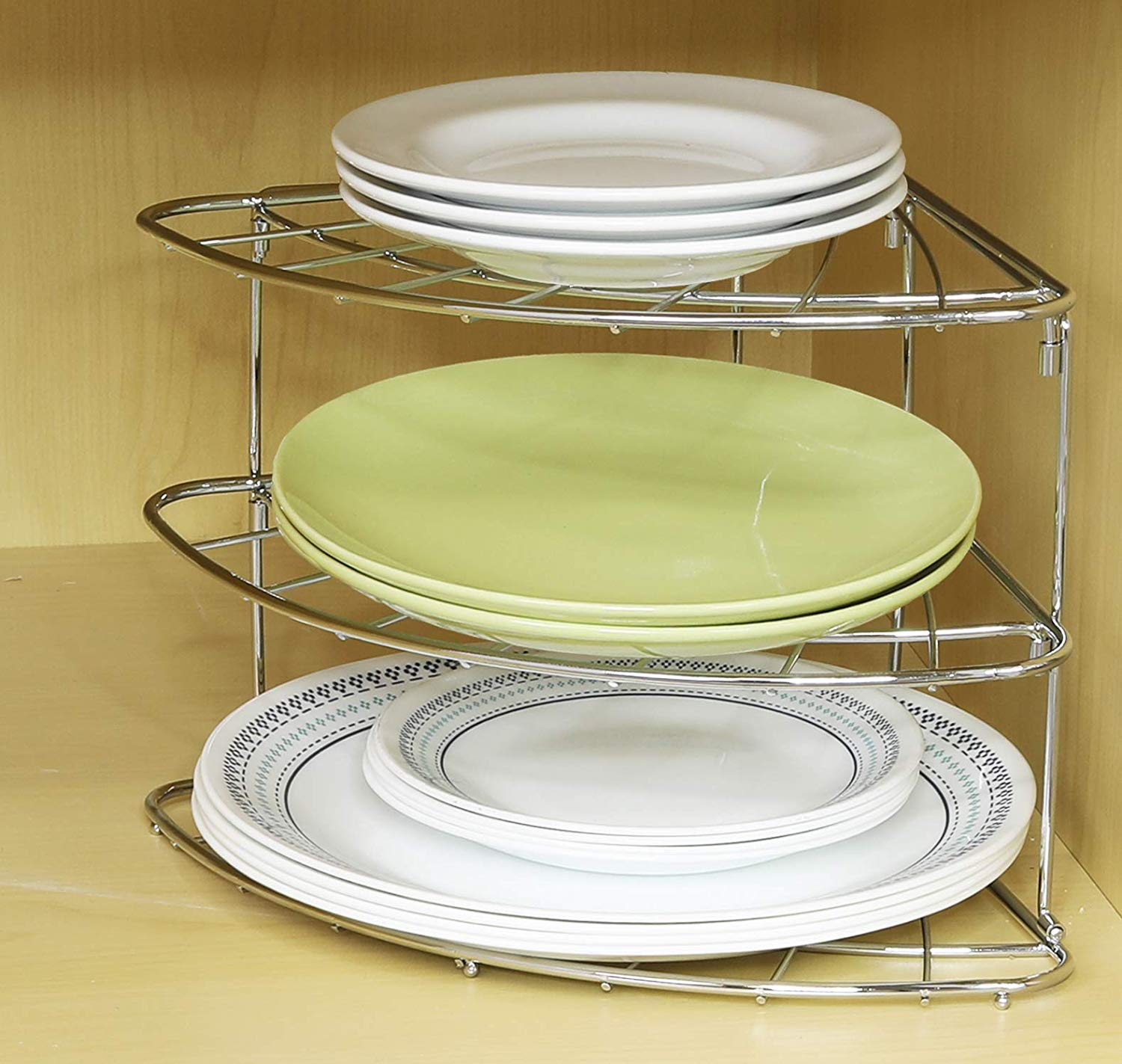 corner shelf organizer - 20 clever organizing ideas for taming your kitchen clutter