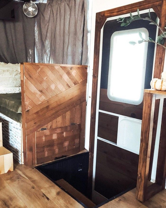 good on wheels 16 - Young couple turned drab motorhome into white haven (and cut their living expenses in half)