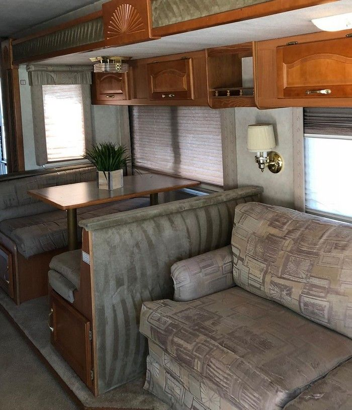 good on wheels 4 - Young couple turned drab motorhome into white haven (and cut their living expenses in half)
