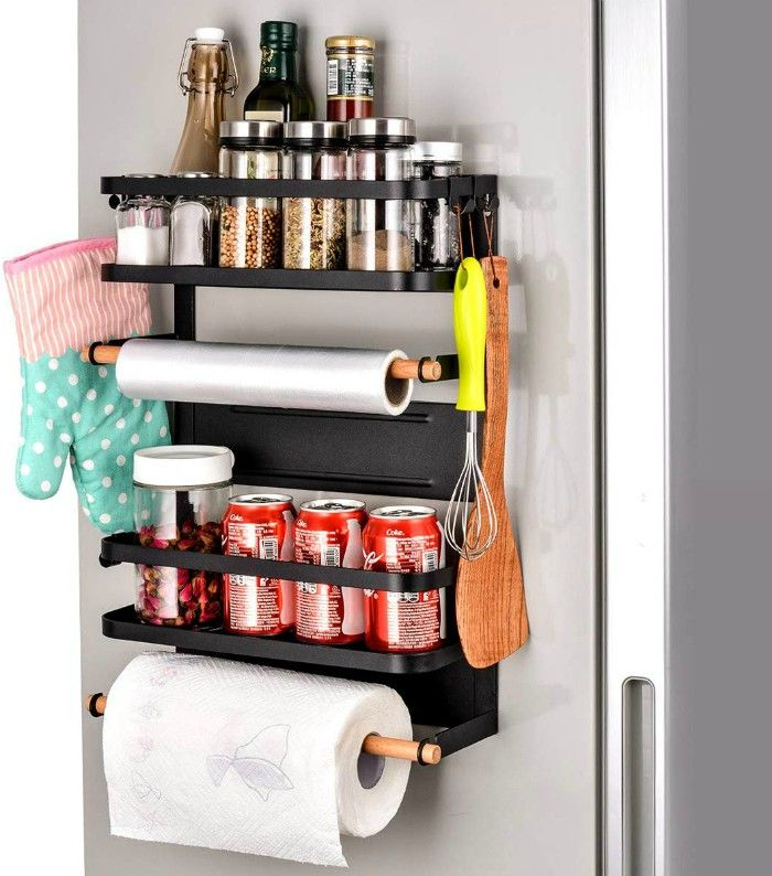 magnetic fridge organizer - 20 clever organizing ideas for taming your kitchen clutter