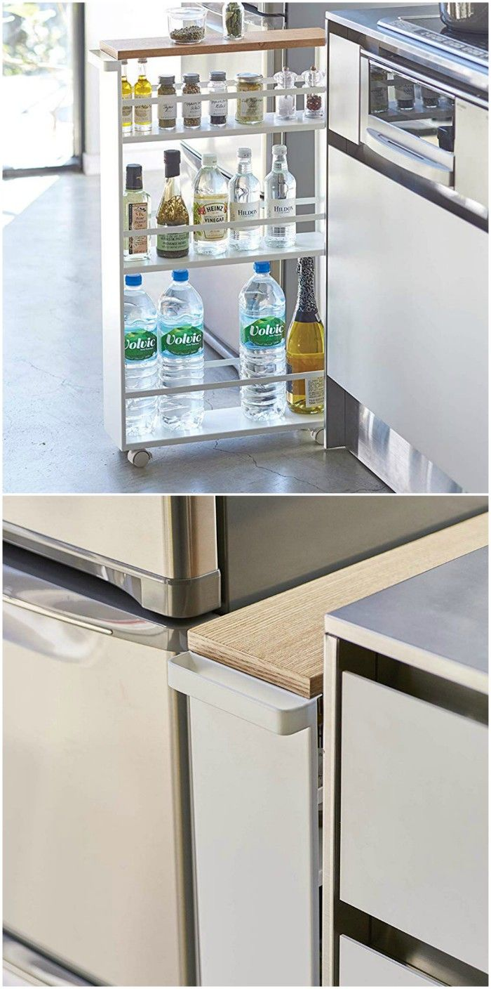 skinny trolley - 20 clever organizing ideas for taming your kitchen clutter