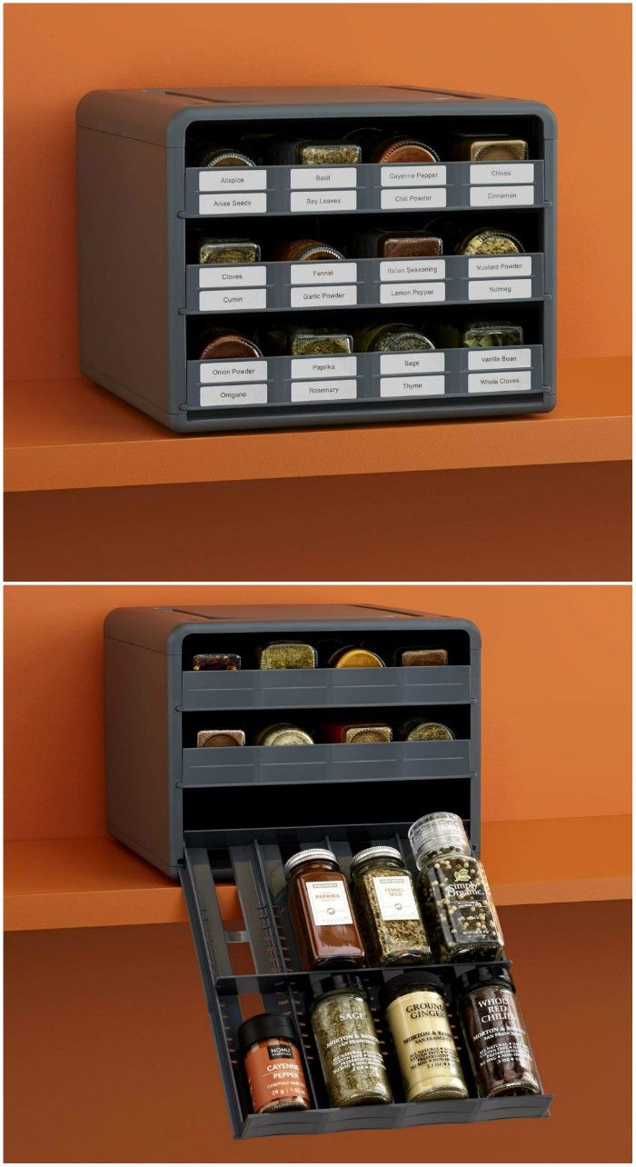 spice organizer - 20 clever organizing ideas for taming your kitchen clutter
