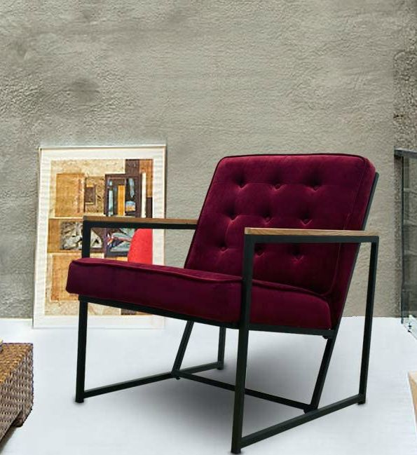 Burgundy Upholstered Velvet Armchair - 15 accent chairs that make a serious style statement