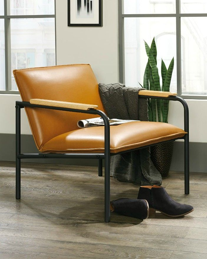 Sauder Boulevard Café Lounge Chair Camel finish - 15 accent chairs that make a serious style statement