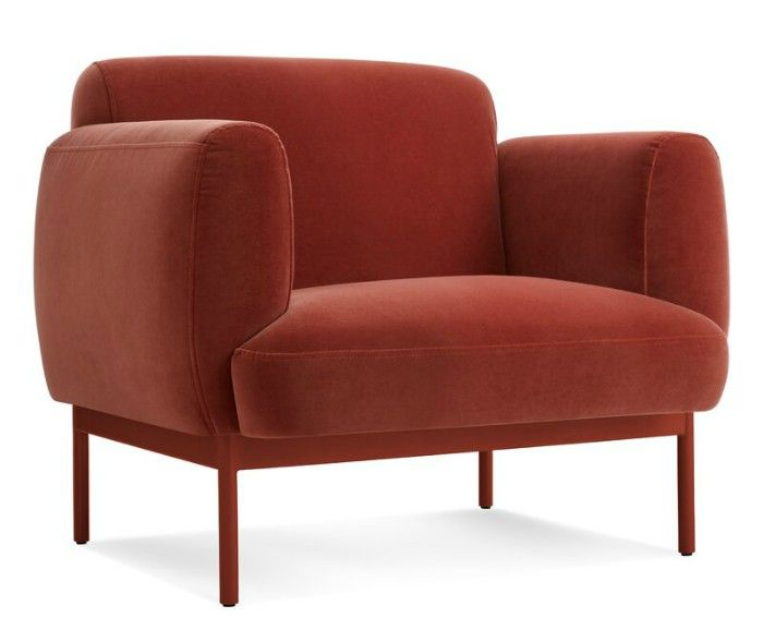 tomato red accent chair - 15 accent chairs that make a serious style statement