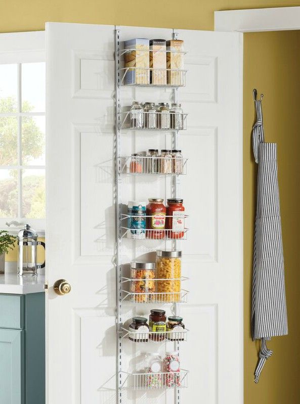 8TierCabinetDoorOrganizer - 20 smart ways to organize your kitchen