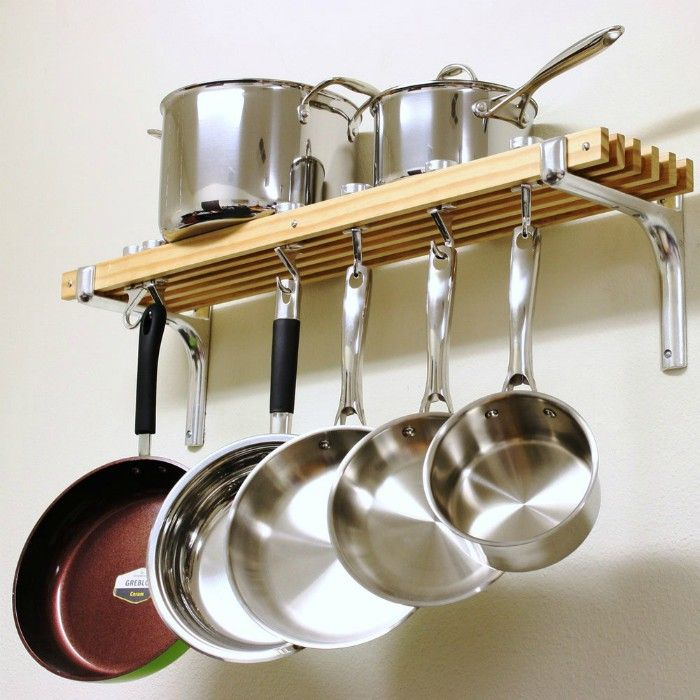 Cooks Standard Wall Mount Pot Rack 36 by 8 Inch  - 20 smart ways to organize your kitchen