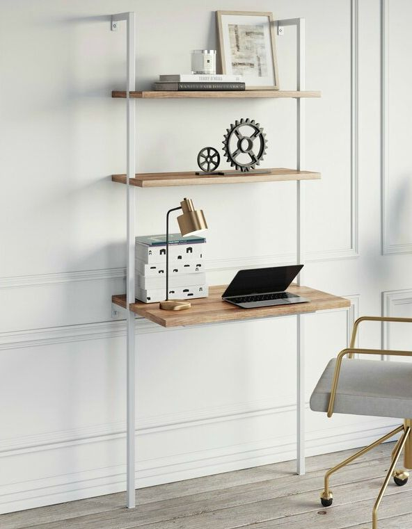 ZacharyLadderDesk - 15 excellent desk ideas for small spaces