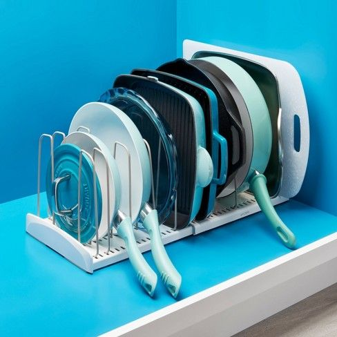 cookware rack - 20 smart ways to organize your kitchen