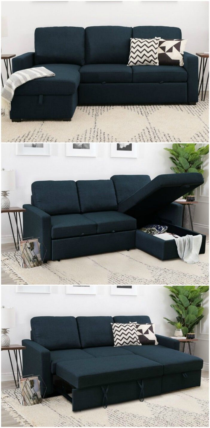dark blue sectional sleeper sofa - 15 dreamy sofa beds that are sure to impress