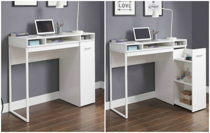 desk white - 15 excellent desk ideas for small spaces