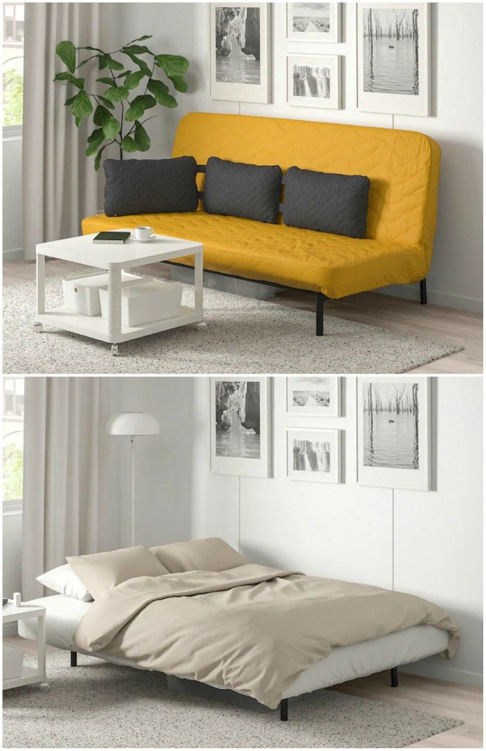 mustard yellow sofa bed - 15 dreamy sofa beds that are sure to impress