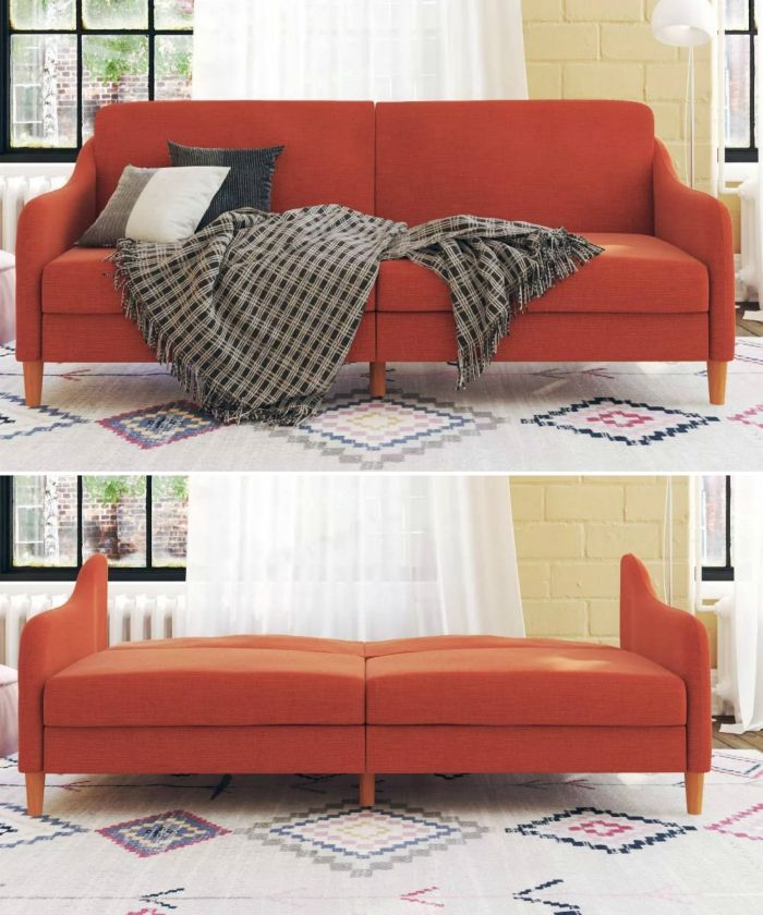 orange sofa bed - 15 dreamy sofa beds that are sure to impress