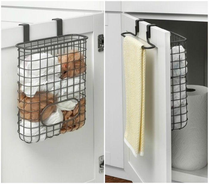 over door bag towel organizer - 20 smart ways to organize your kitchen