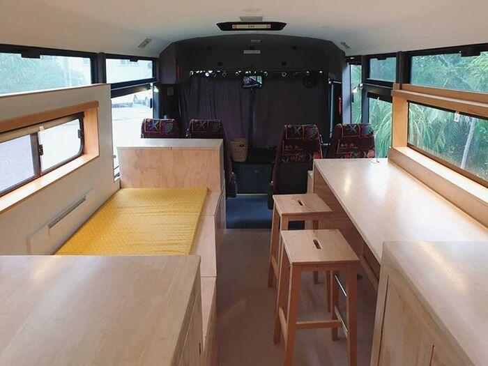 school bus conversion bronte 13 - Australian family turned 1998 Hino school bus into a delightful home on wheels