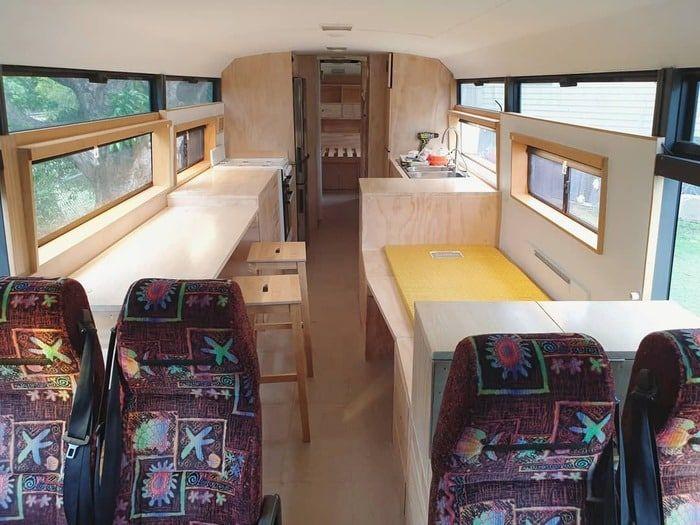 school bus conversion bronte 14 - Australian family turned 1998 Hino school bus into a delightful home on wheels