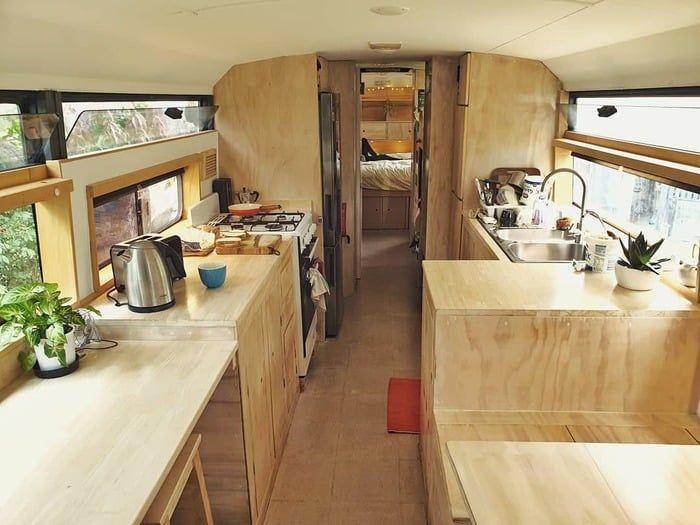 school bus conversion bronte 18 - Australian family turned 1998 Hino school bus into a delightful home on wheels