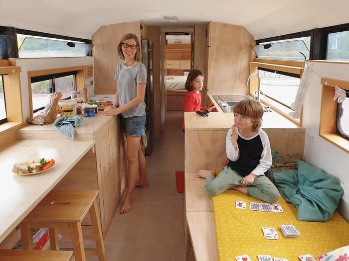 school bus conversion bronte 19 - Australian family turned 1998 Hino school bus into a delightful home on wheels