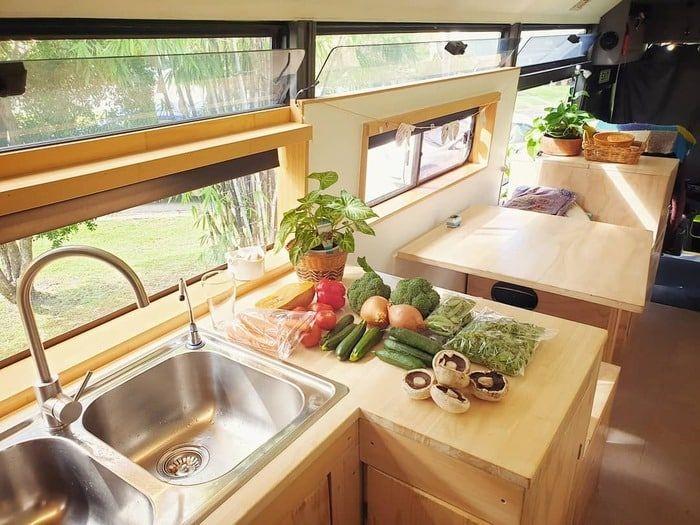 school bus conversion bronte 20 - Australian family turned 1998 Hino school bus into a delightful home on wheels