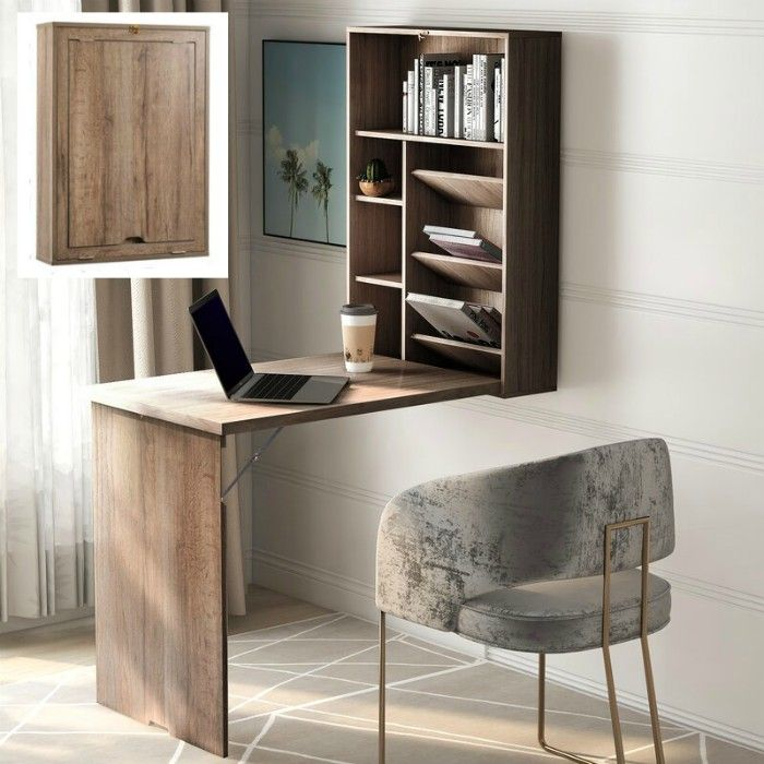 wall desk - 15 excellent desk ideas for small spaces