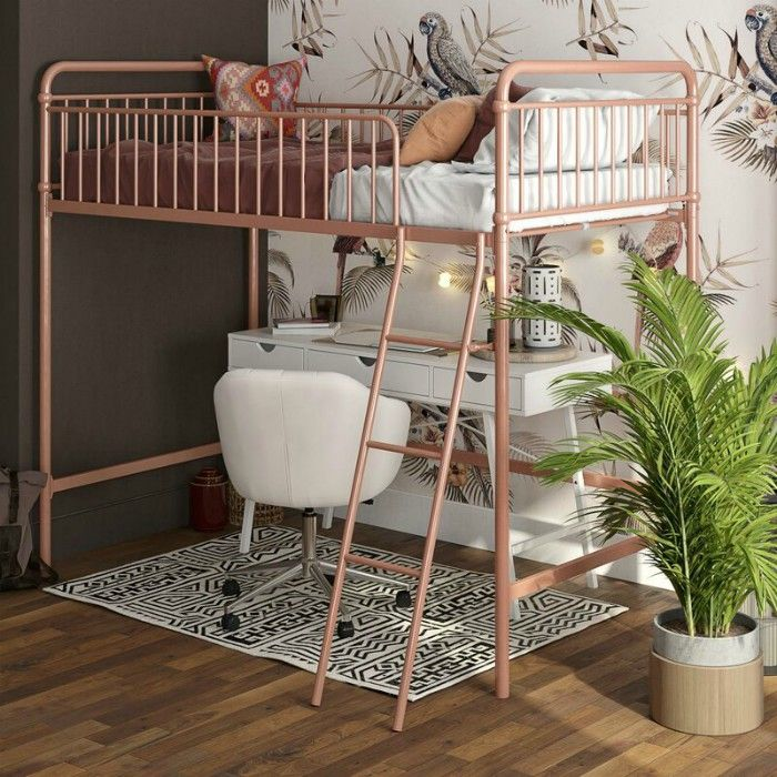Angelita Twin Loft Bed - 15 space-saving bunk and loft bed ideas for children's rooms