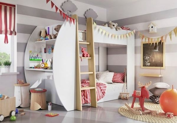 JERRY Kids Bunk Bed 5aed4824 ec5d 4d65 ac94 8d3266ae17ea 600 - 15 space-saving bunk and loft bed ideas for children's rooms