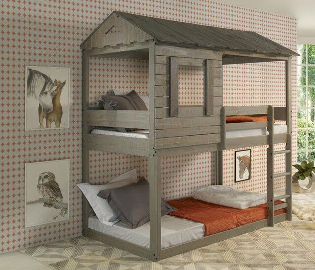Twin over Twin Bunk Bed - 15 space-saving bunk and loft bed ideas for children's rooms