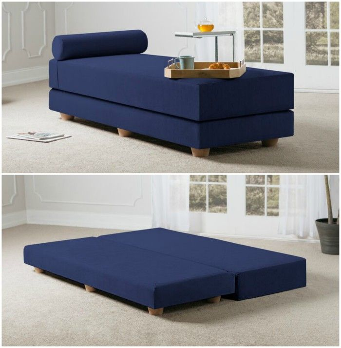 blue convertible daybed - 12 daybeds that'll make a sophisticated addition to your home