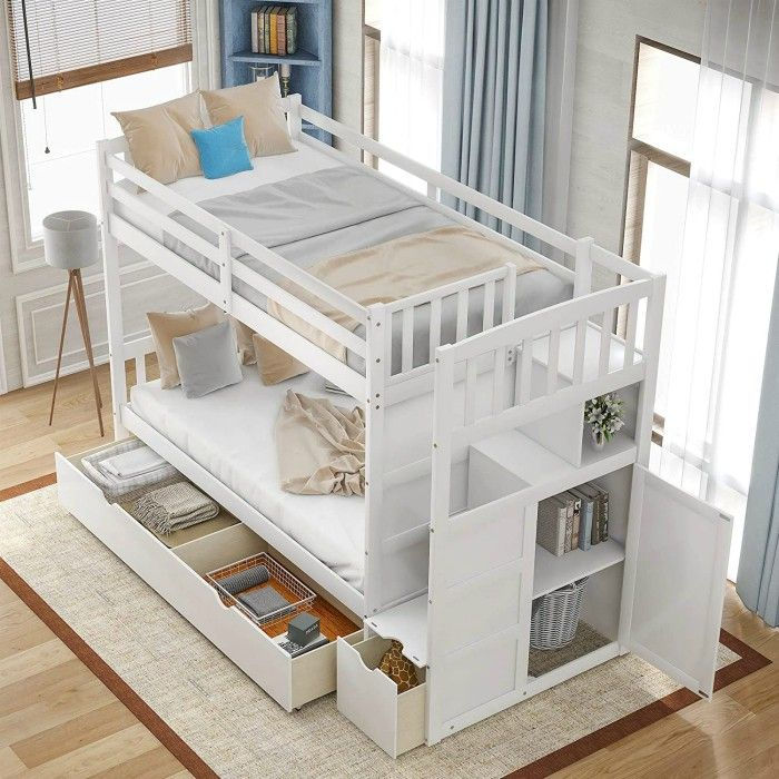 merax twin - 15 space-saving bunk and loft bed ideas for children's rooms
