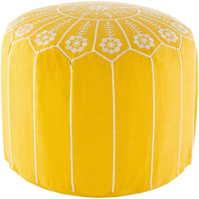 Isidora Embroidered Moroccan 20 inch Round Pouf dd963aa4 b4ae 458e ad74 6cda03df24d2 1000 - 20 poufs and ottomans that add some wow-factor to your home