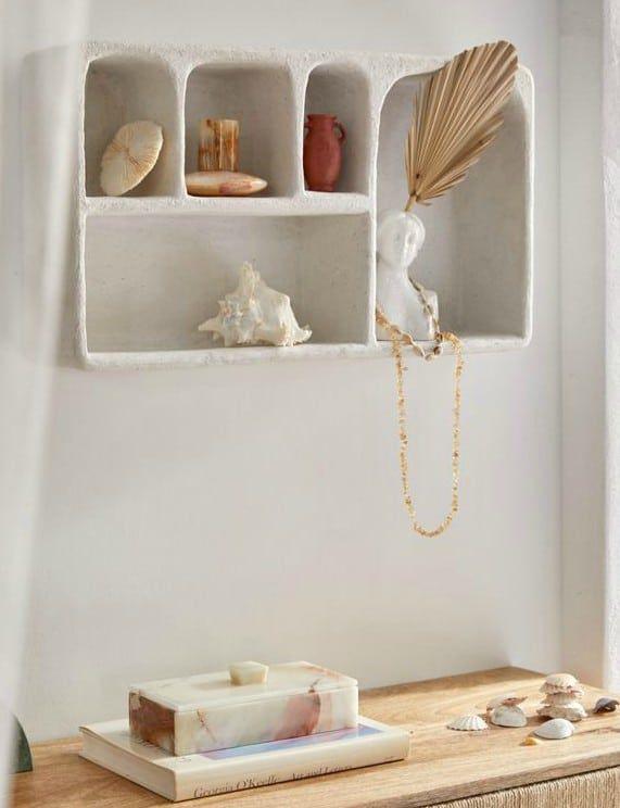 Isobel Concrete Wall Shelf - 20 brilliant wall shelf ideas that make storage look stylish
