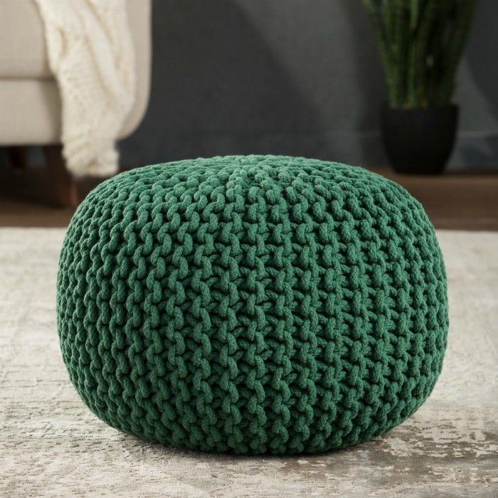 Olsen Textured Round Pouf - 20 poufs and ottomans that add some wow-factor to your home