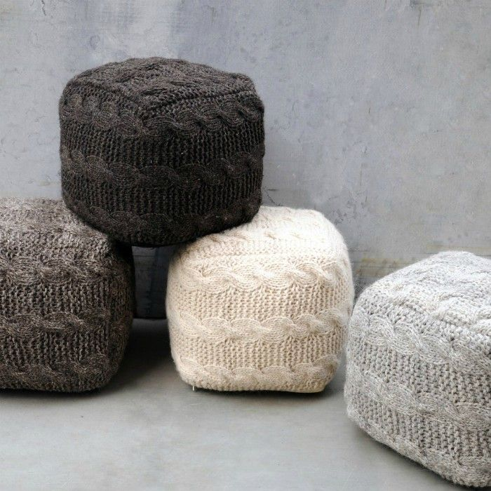 Oslo Fabric Pouf by Christopher Knight Home - 20 poufs and ottomans that add some wow-factor to your home