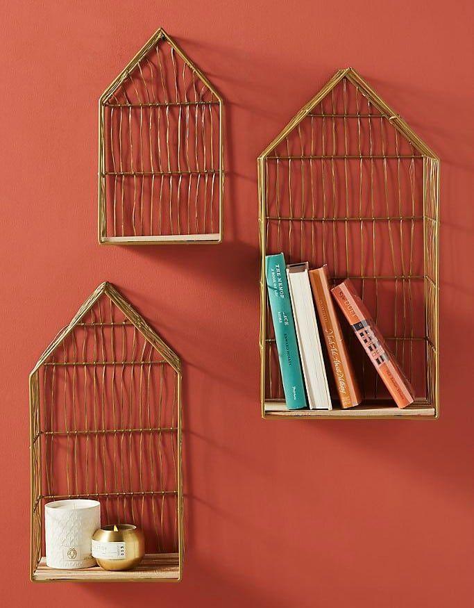 Wire House Shelves Set of 3 - 20 brilliant wall shelf ideas that make storage look stylish