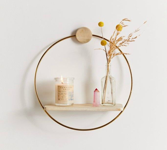 circle shelf - 20 brilliant wall shelf ideas that make storage look stylish