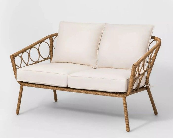 loveseat rattan - 25 gorgeous loveseats that are perfect for small spaces