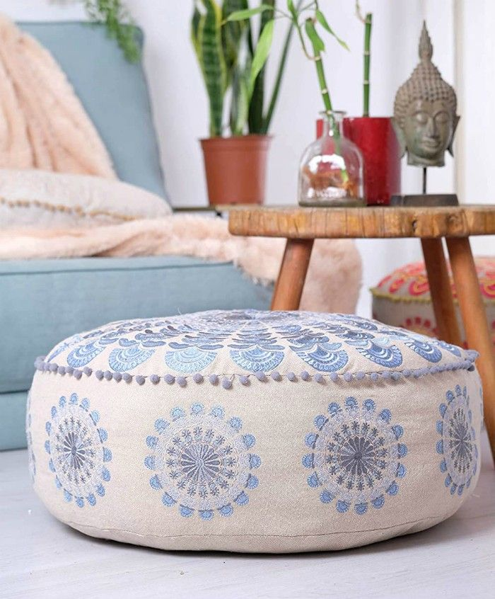 mandala pouf - 20 poufs and ottomans that add some wow-factor to your home