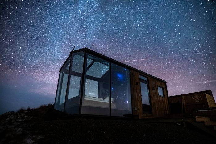 panorama glass lodge cabin 4 - A glass ceiling lets you sleep under the Northern lights in this Icelandic tiny house