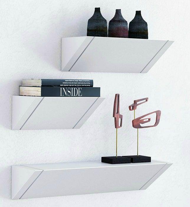 white floating shelves - 20 brilliant wall shelf ideas that make storage look stylish