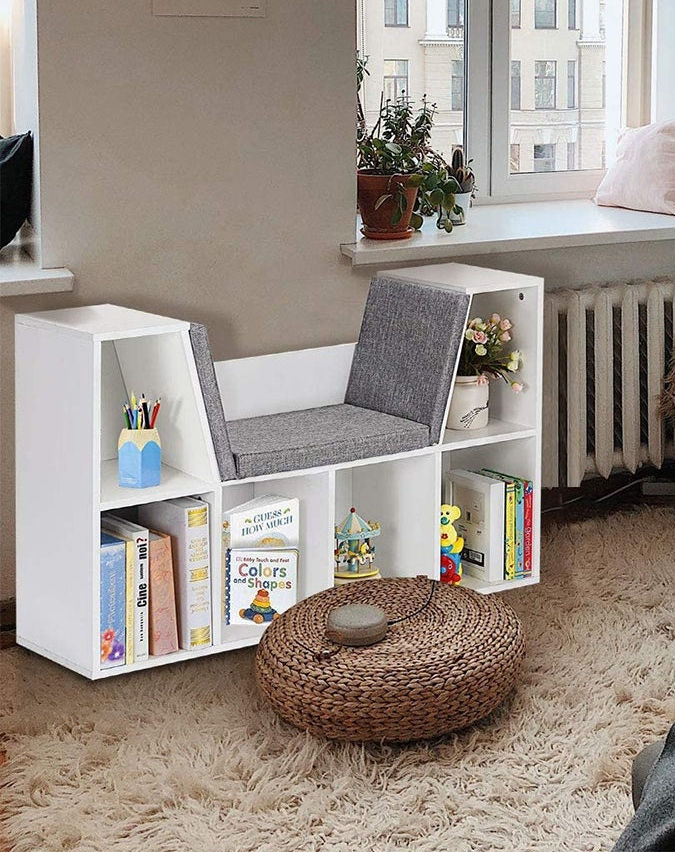 6 Cubby Kid Storage Cabinet Bookcase - 22 brilliant bookcases for small spaces
