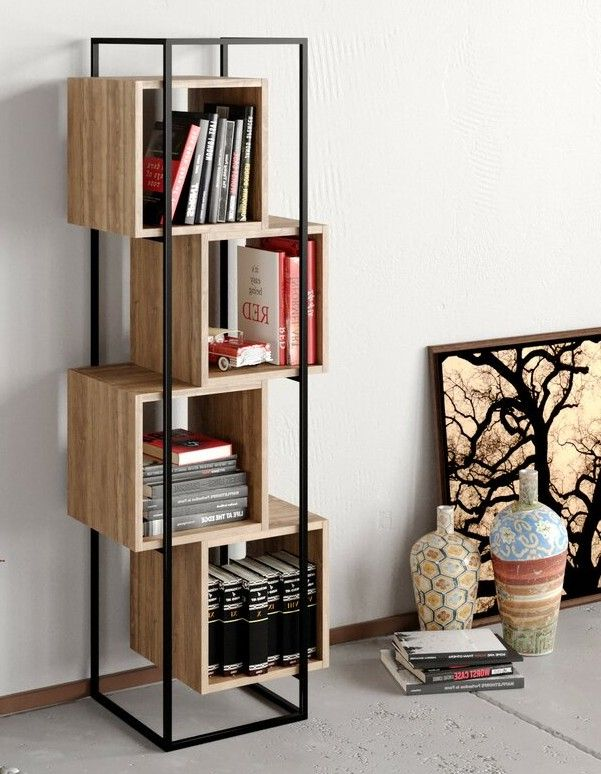 AgdaGeometricBookcase - 22 brilliant bookcases for small spaces