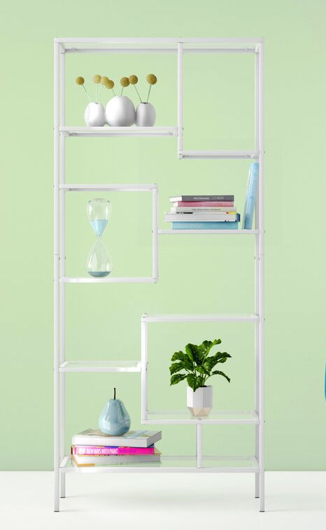 AldenGeometricBookcase - 22 brilliant bookcases for small spaces