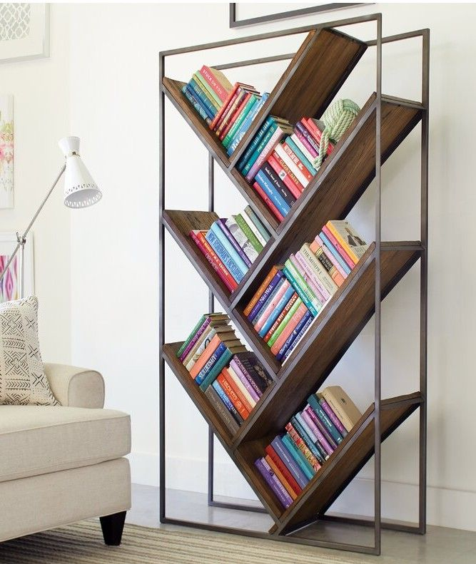 ByramBrandieGeometricBookcase 1 - 22 brilliant bookcases for small spaces