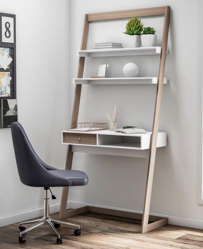 Carson Carrington Jarbo Contemporary 2 tone Lean Desk 9ac14e32 7788 41c0 94b2 926016a951da 1000 - 18 fabulous desks that are ideal for small spaces