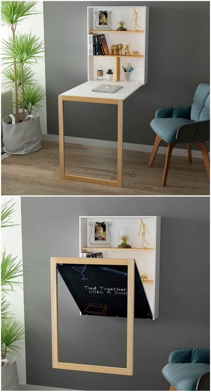 fold down desk - 18 fabulous desks that are ideal for small spaces