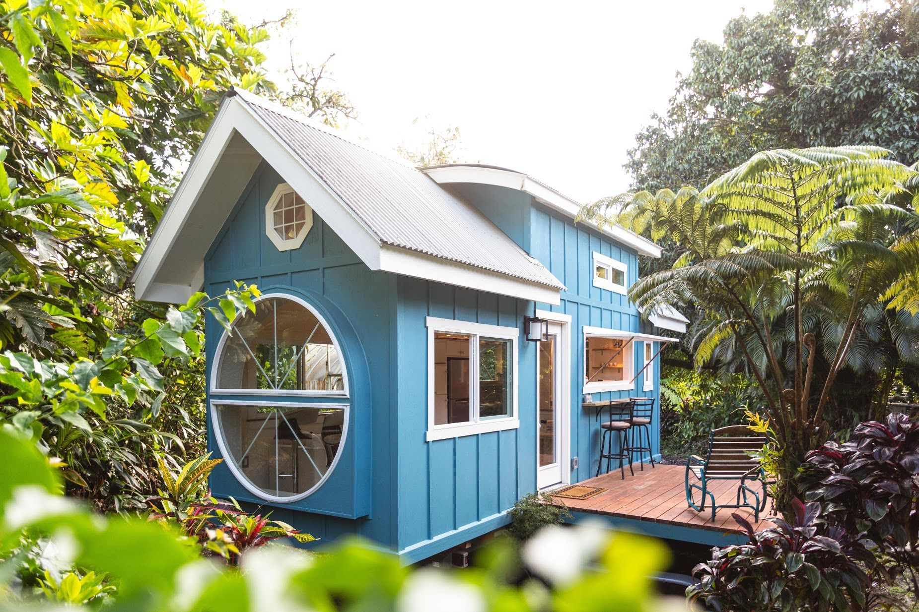 oasis house tiny - Hawaiian tiny house is stacked with space-saving solutions including a shower jutting out over the trailer's tongue