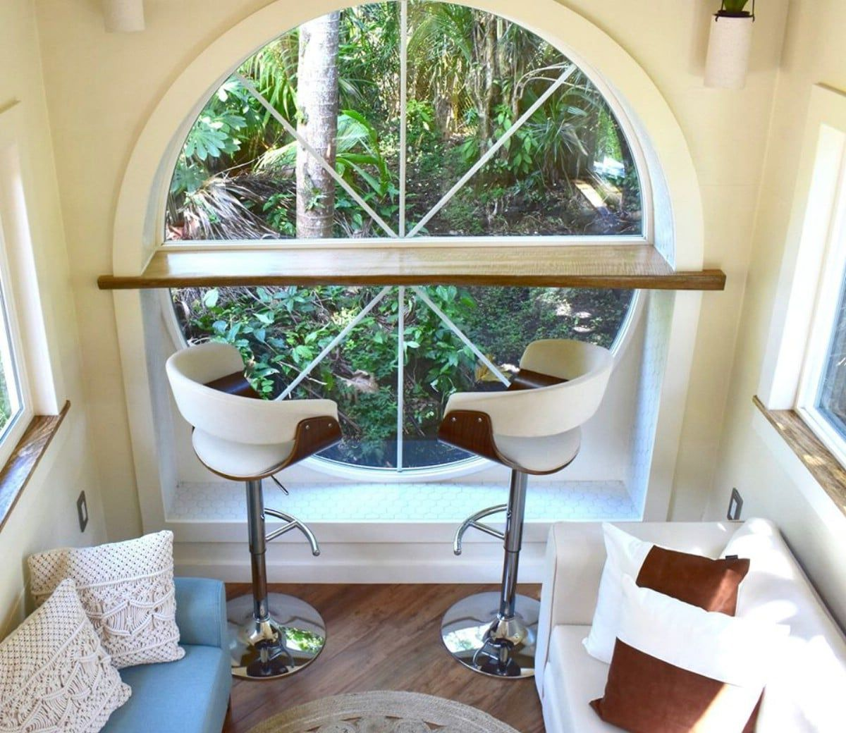 oasis tiny house 12 - Hawaiian tiny house is stacked with space-saving solutions including a shower jutting out over the trailer's tongue
